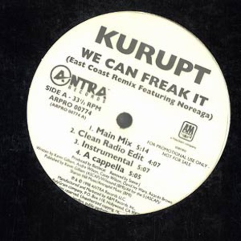 Kurupt - We can freak it East Coast Remix feat. Noreaga