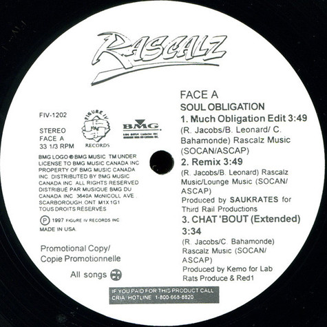 Rascalz - Soul Obligation