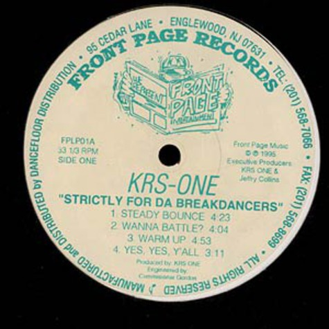 Krs One - Strictly for da breakdancers