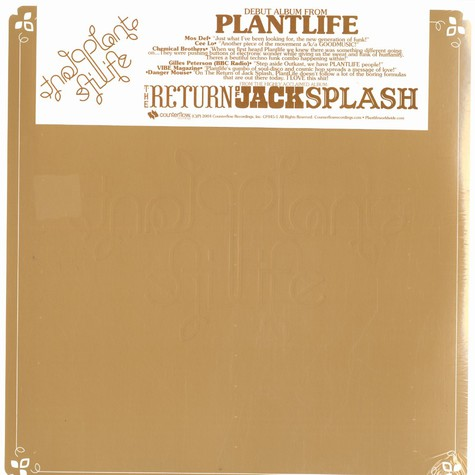 Plant Life - Return of Jack Splash