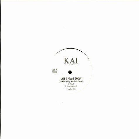 Kai / Ms.T - All i need 2005 / best of me