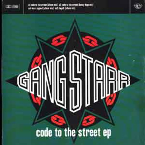 Gang Starr - Code to the street EP