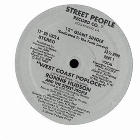 Ronnie Hudson & The Street People - West coast poplock