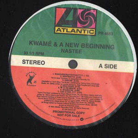 Kwame And A New Beginning - Nastee