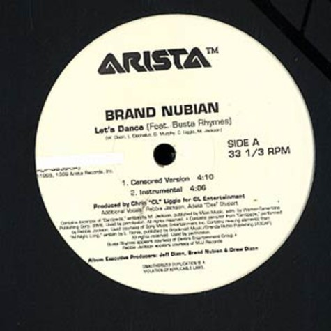 Brand Nubian - Let's Dance feat. Busta Rhymes