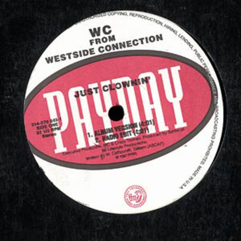 WC from Westside Connection - Just clownin