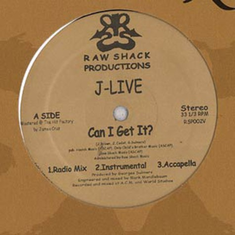 J-Live - Can I Get It?