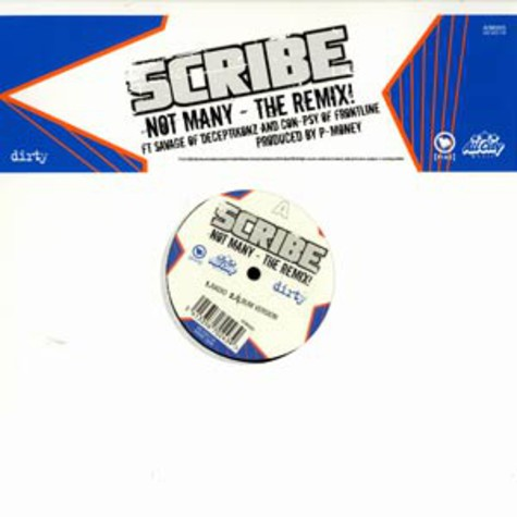 Scribe - Not many remix feat. Savage & Con-Spy