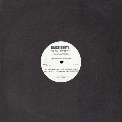 Beastie Boys - Open letter to NYC Cut Chemist remix