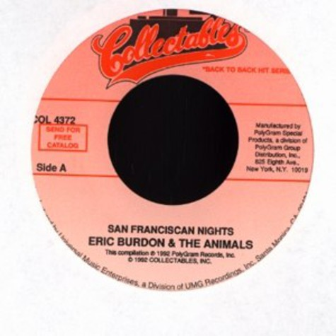 Eric Burdon & The Animals - San Franciscan nights