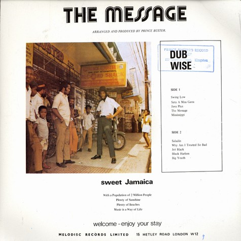 Prince Buster - The message - dub wise