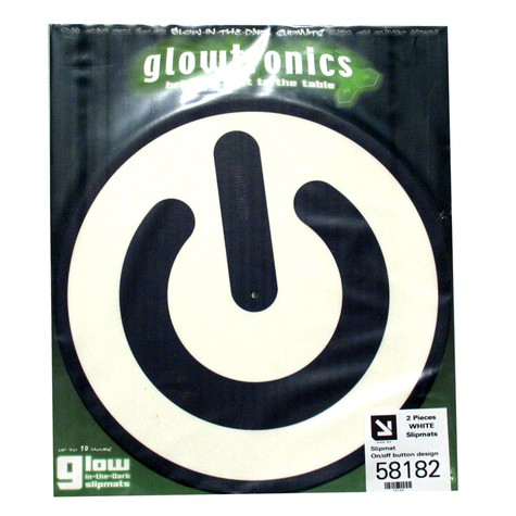 Glowtronics - On/Off Button Glow In The Dark Slipmat