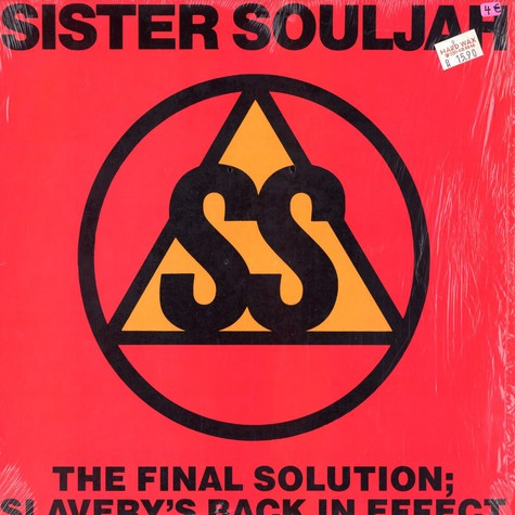 Sister Souljah - The final solution; slavery's back in effect