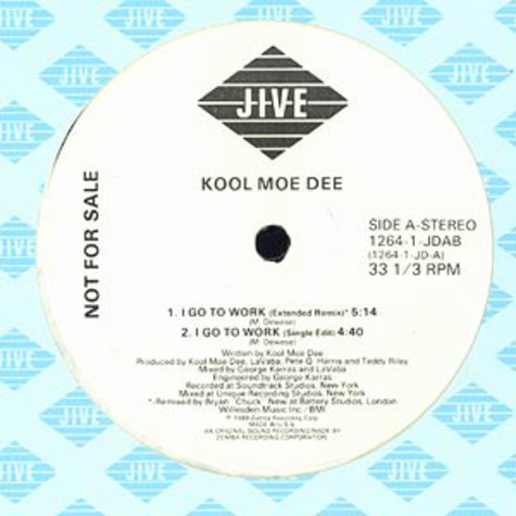 Kool Moe Dee - I go to work