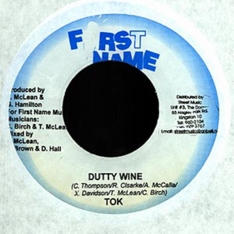 T.O.K. / Monster Twins - Dutty wine / living the life feat. Flex