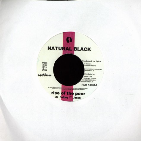 Natural Black - Rise of the poor