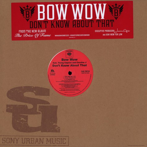 Bow Wow - Don't know about that feat. Young Capone & Cocaine J