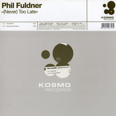 Phil Fuldner - (Never) too late