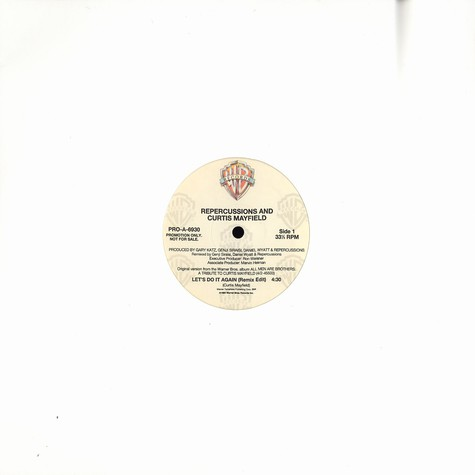 Repercussions & Curtis Mayfield - Let's do it again (remix)