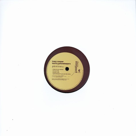 Tracy Cooper & Greenskeepers - Gotta let loose EP