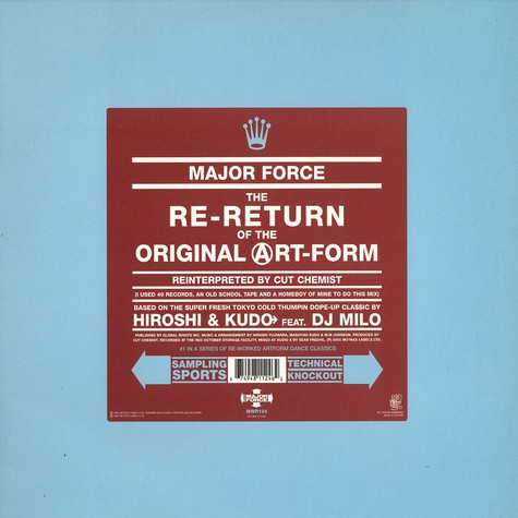 Major Force - The Re-Return Of The Original Artform Cut Chemist Remix