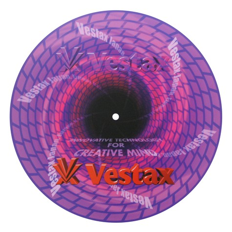 Slipmat - Vestax neoprene purple renga swirl design
