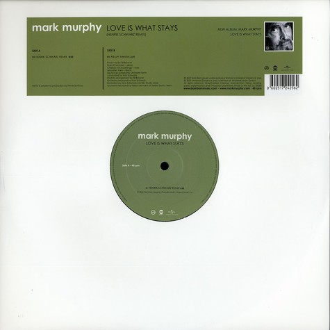 Mark Murphy - Love Is What Stays Henrik Schwarz Remix