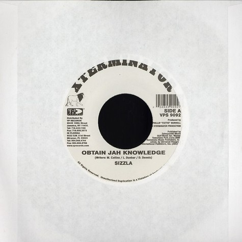 Sizzla / Unstoppable - Obtain jah knowledge / so high
