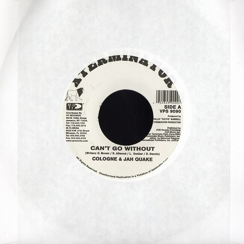 Cologne & Jah Quake - Can't go without