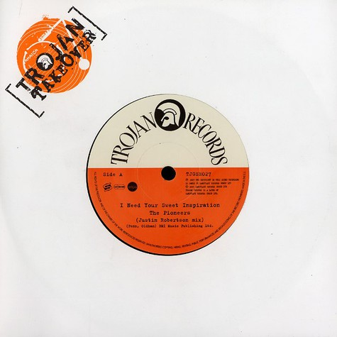 Pioneers, The - I need your sweet inspiration Justin Robertson mix