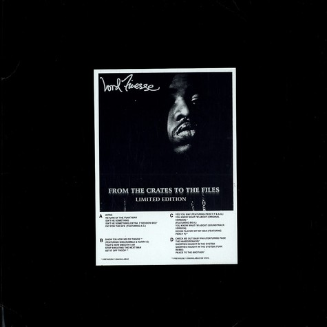 Lord Finesse - From the crates to the files (limited edition)