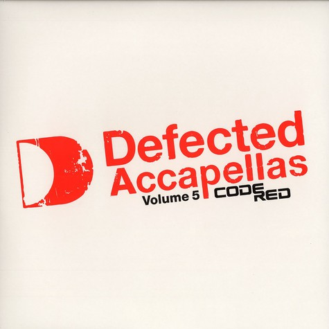 Defected Accapellas - Volume 5 - code red