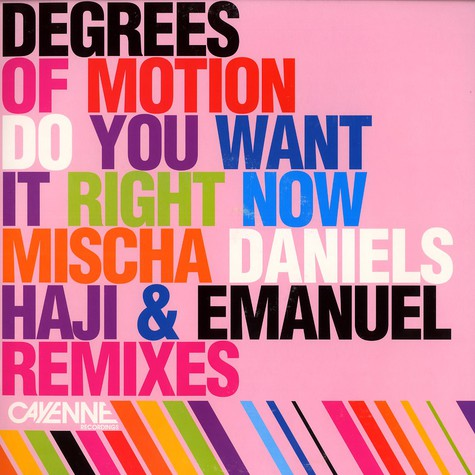 Degrees Of Motion - Do you want it right now remixes part 2
