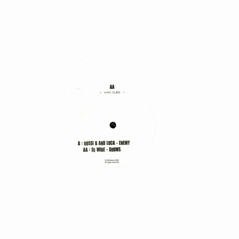 Rossi B & Luca / DJ Wire - Enemy / drums