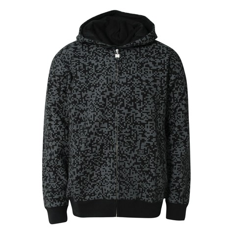 DC - Coded zip-up hoodie