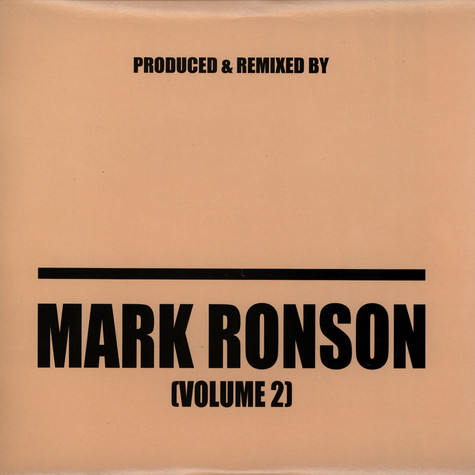 Mark Ronson - Produced & remixed by Mark Ronson volume 2