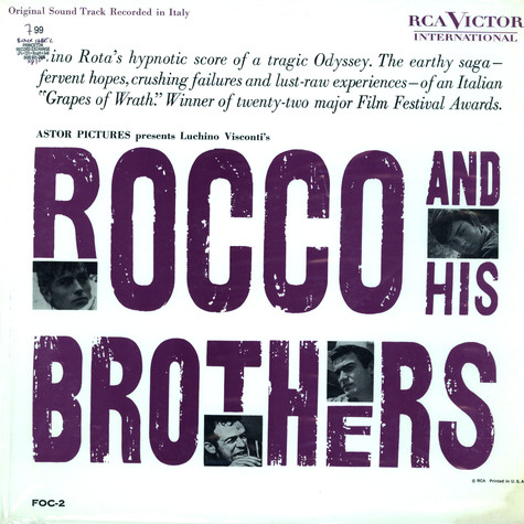 Nina Rota - OST Rocco and his brothers