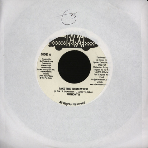 Anthony B / Jimmy Riley - Take time to know her / keep rising