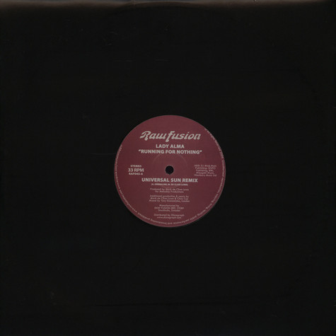 Lady Alma - Running for nothing Universal Sun remix