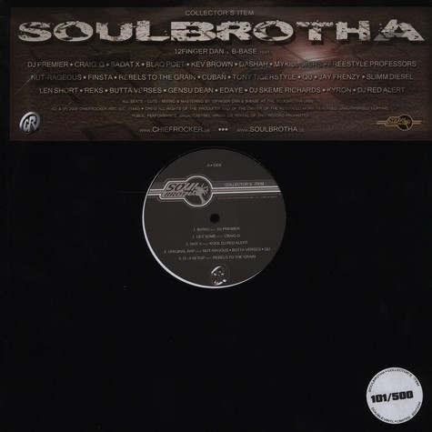 Soulbrotha (B-Base & 12 Finger Dan) - Collectors item