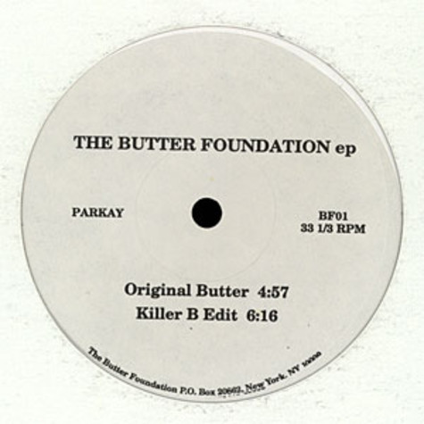 Butter Foundation - The Butter Foundation Ep