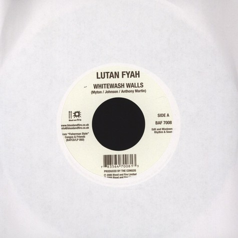 Lutan Fyah / Country Culture - Whitewash Walls / Make Poverty History