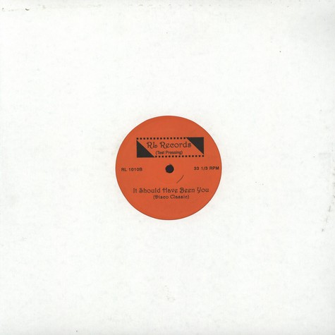 Jeanette Thomas / Rhythm Controll - It Should Have Been You / Dub Your Body