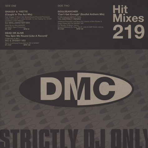 DMC Hit Mixes - Volume 219