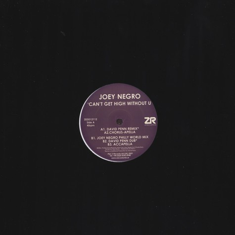 Joey Negro - Can't Get High Without U