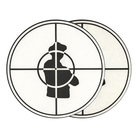 Sicmats - Public Enemy Scope Slipmats (White/Black)