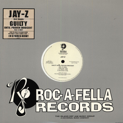 Jay-Z - Guilty until proven innocent feat. R Kelly
