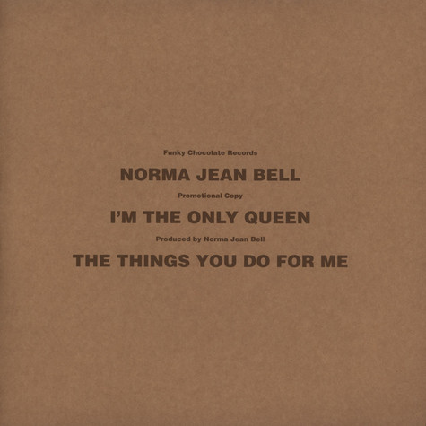 Norma Jean Bell - I Am The Only Queen