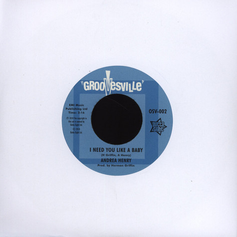 Andrea Henry / B. The Groovesville Men - I Need You Like A Baby / Genie