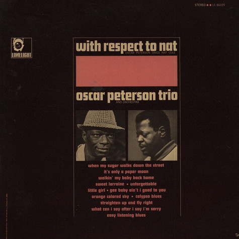 Oscar Peterson Trio, The - With Respect To Nat